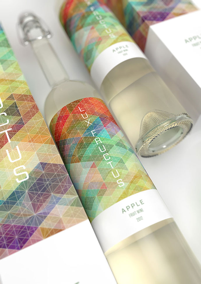 CUBEN Space / Lux Fructus: Fruit Wine Packaging by Multiple Owners