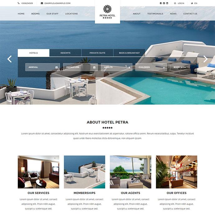 Hotel, Resort, Bed & Breakfast WP theme
