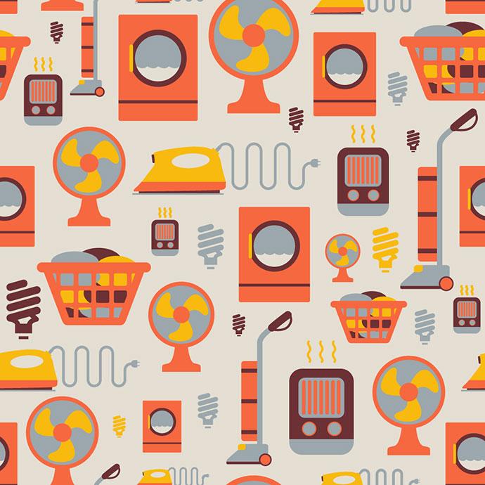 Houseware Pattern by Matt Scribner