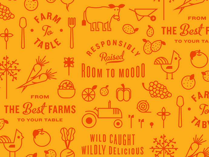 Farm to Table Pattern by Kyle Anthony Miller