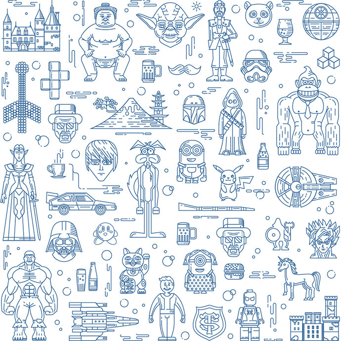 Games studio pattern by Fireart Studio