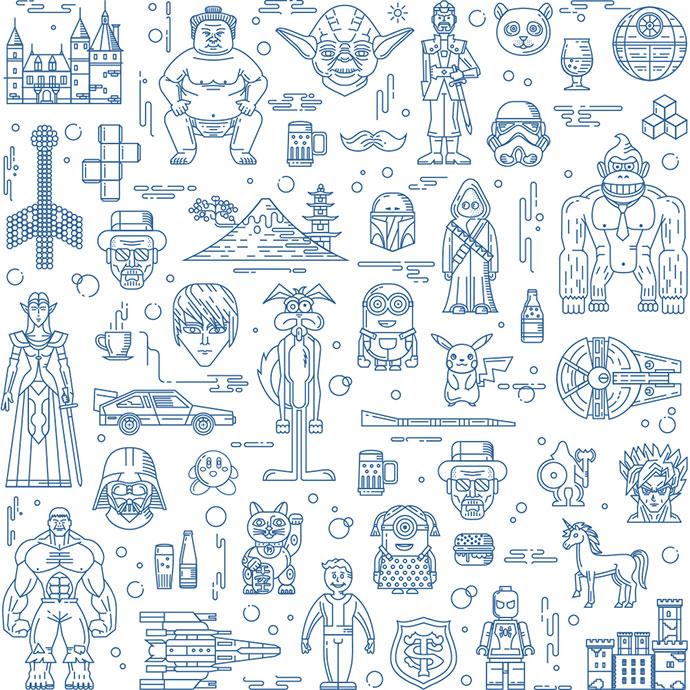 Games studio pattern by Fireart Studio