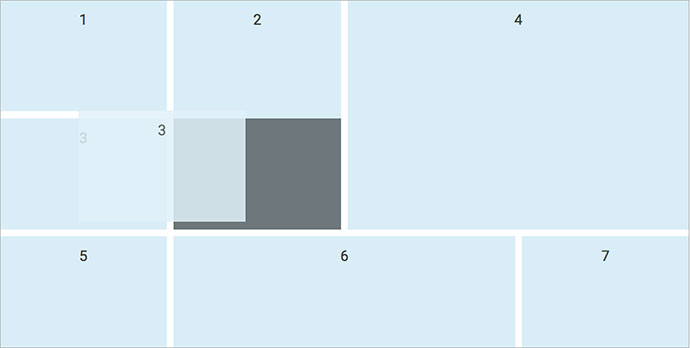 Static responsive grid with pure css.