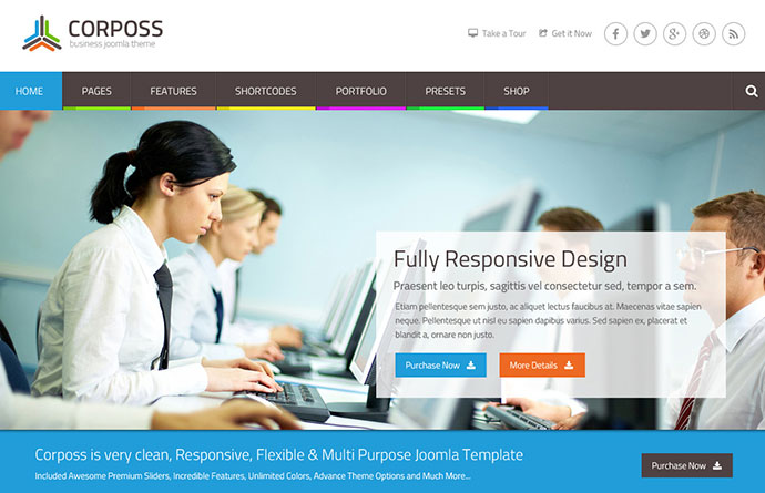Corposs - Responsive Business Joomla Template