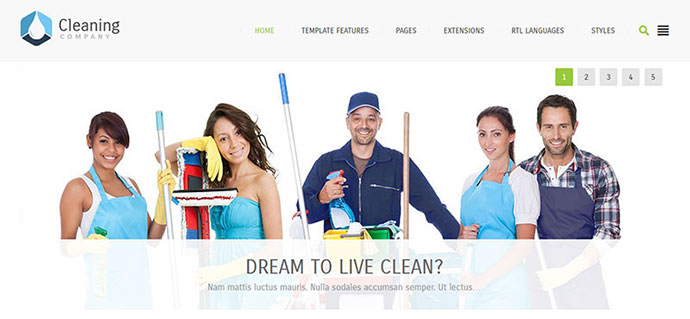 Cleaning Company - multipurpose services Joomla te