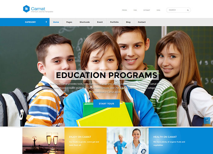 Camat - Government Joomla Templates