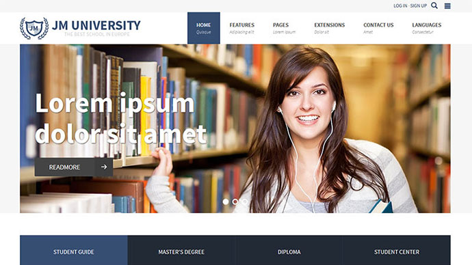 JM University - multipurpose education template