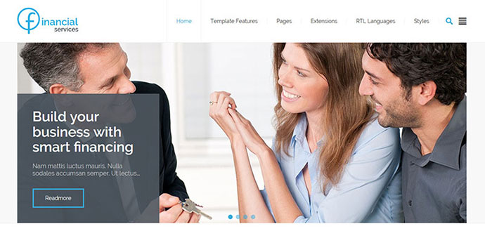 Financial Services - multipurpose Joomla template