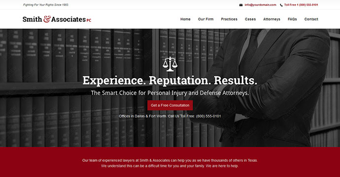 Associates Lawyer & Attorney One Page Joomla Theme