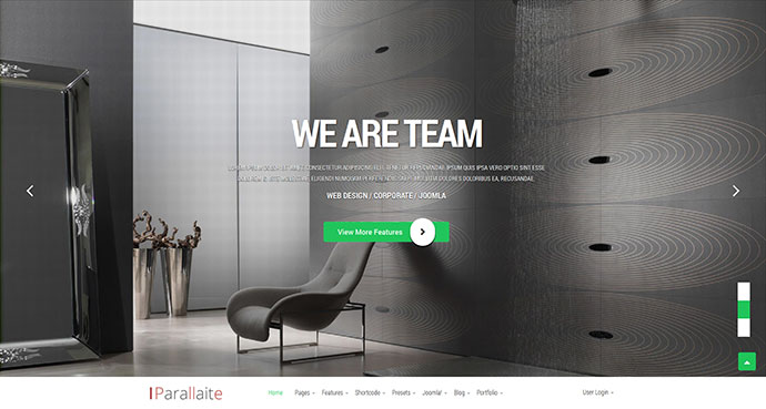 Parallaite - Responsive Business Joomla Template