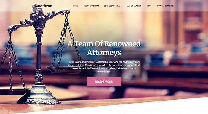 Baratheon - Law Firm Joomla Template