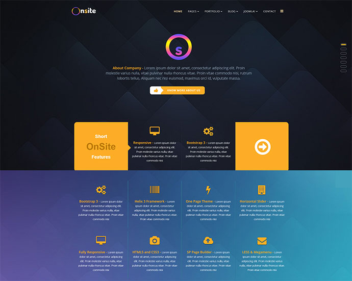 Onsite - One Page Business Joomla Template