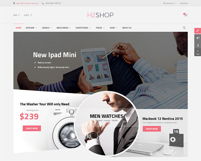 H2shop - Responsive Multipurpose VirtueMart Theme