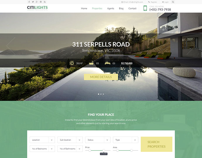 Citilights - Real Estate Joomla Template