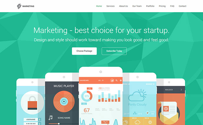 Marketing - Startup Landing Page Template