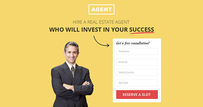 Multipurpose Landing Page Template - Agents