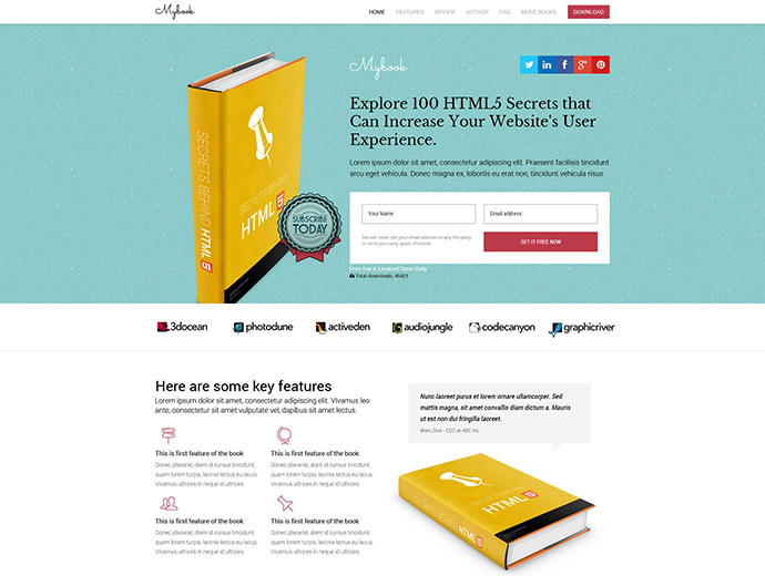 Mybook - Responsive Book Landing Page