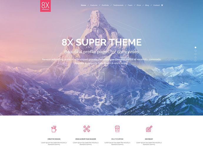 8X Super Landing Page