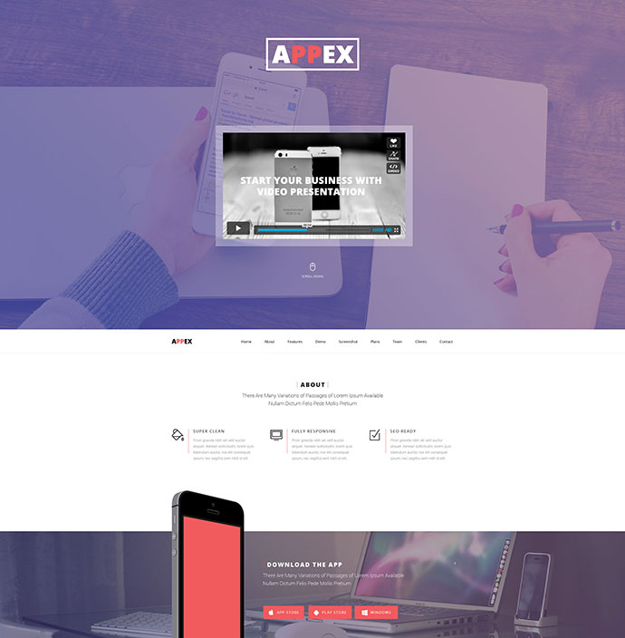 AppEx - Responsive Multi-Purpose Apps Landing Page