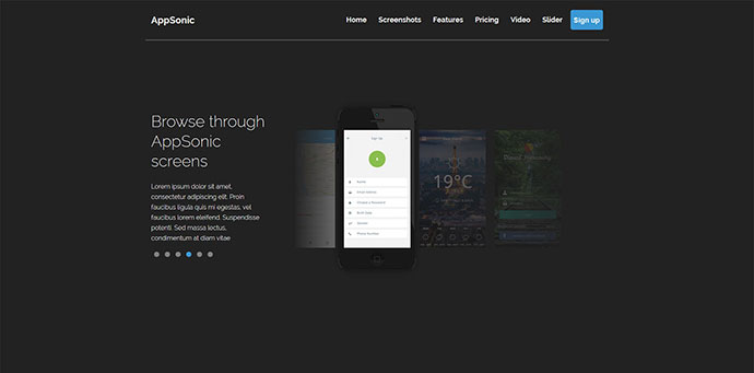 AppSonic Clean HTML Business App Landing Page