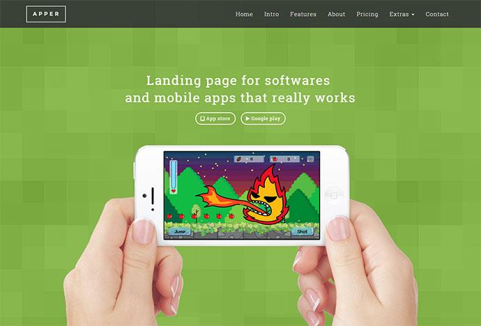 Apper Landing Page