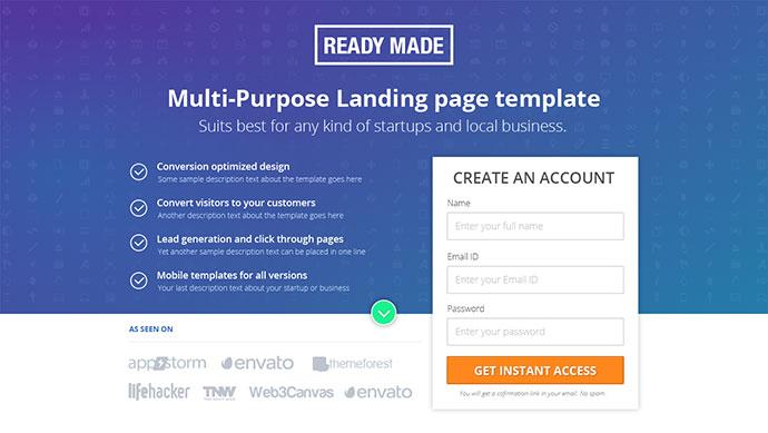 35 Best Landing Page Design Templates 2016 Web Amp Graphic