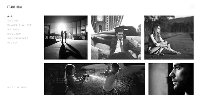 Top Minimalist Photography Portfolio Wordpress Themes Web - Photography portfolio template