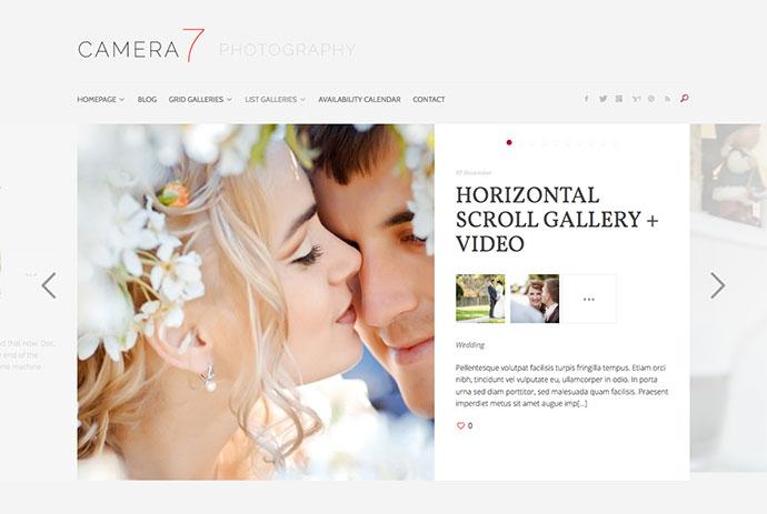 Camera 7 - Minimal Photography WordPress Theme
