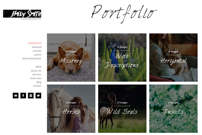 Emily - A Clean Theme for Photographers