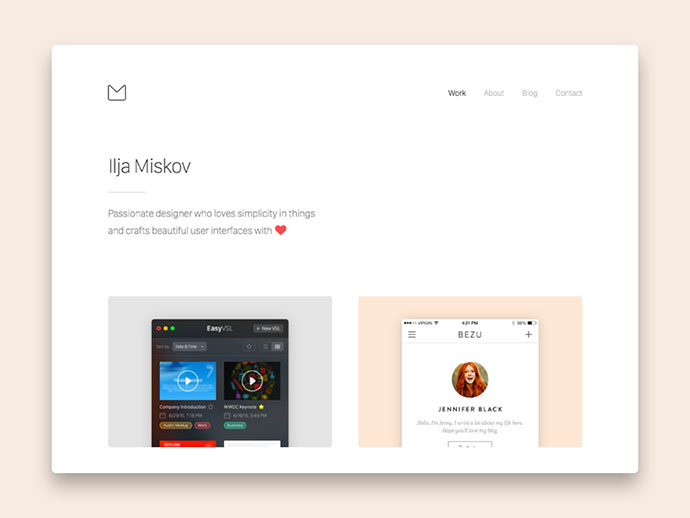 New Portfolio Sneak Peek by Ilja Miskov