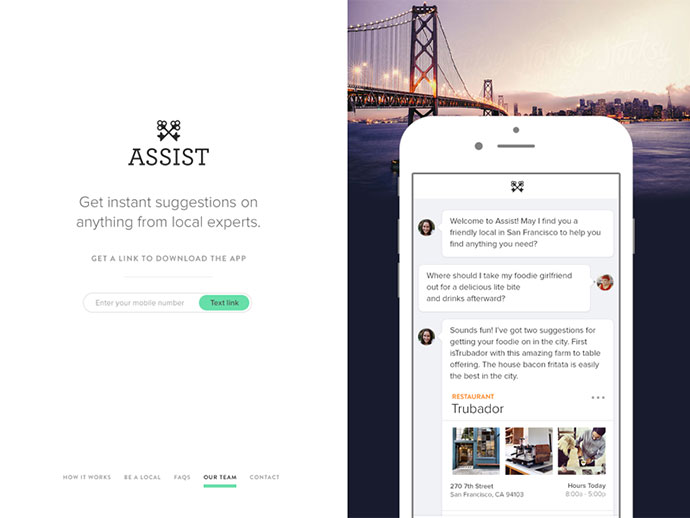 Assist Homepage by Matthew Smith
