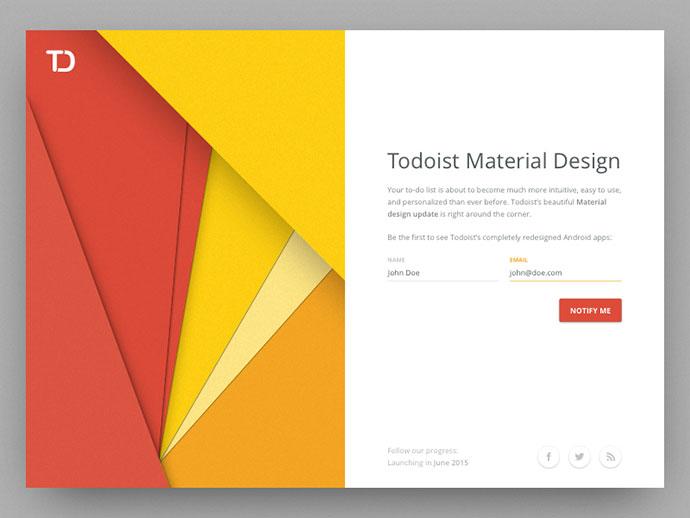 Todoist Material Design by Jordi Tambillo