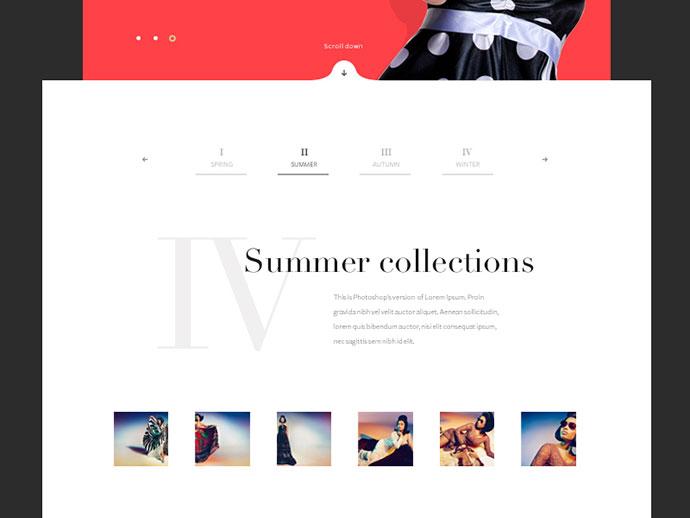 Fashion website by Hrvoje Grubisic