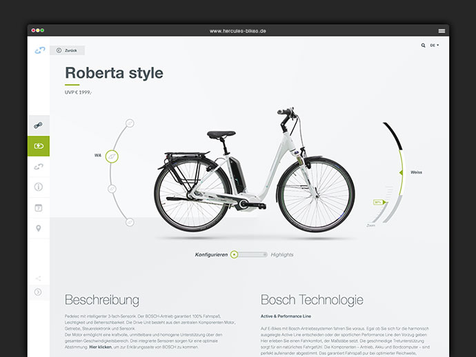 Redesign Hercules Bikes Website by DUNCKELFELD