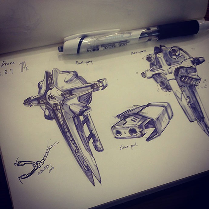Pen sketches by takbeom Heogh