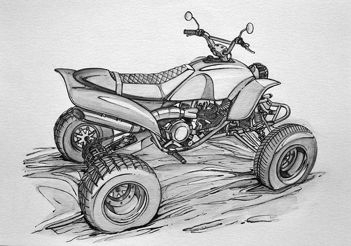 MOTORCYCLE - Sketchbook by Arnaud Biju-Duval