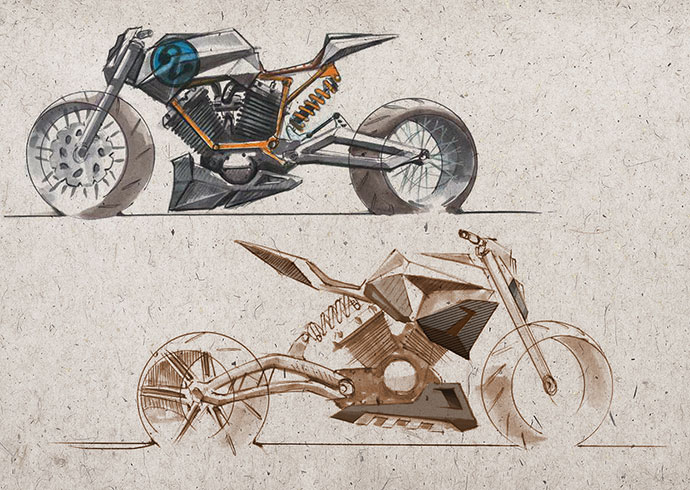 Bike sketches by jake barney