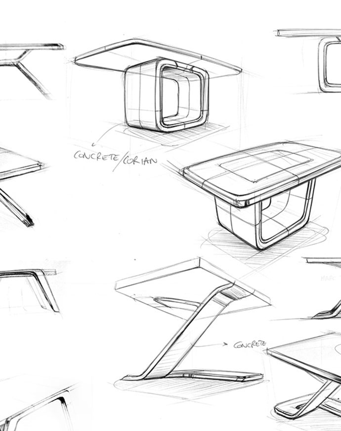 TABLE / POOL TABLE SKETCHES WIP | 2014 by Marc TRAN