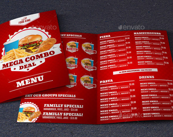 Effective psd restaurant menu design templates bashooka