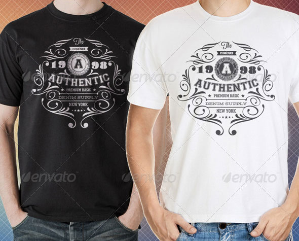 34 Print-Ready PSD T-Shirt Templates | Web & Graphic Design | Bashooka