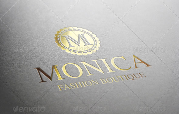 M Letter Fashion Boutique Logo