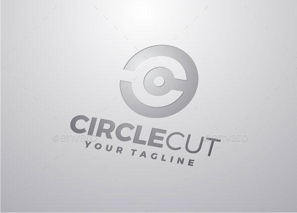 Circle Cut - Letter C Logo
