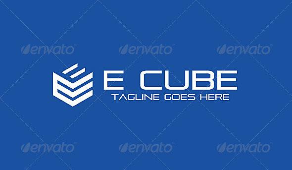E Cube & Box Logo 3D