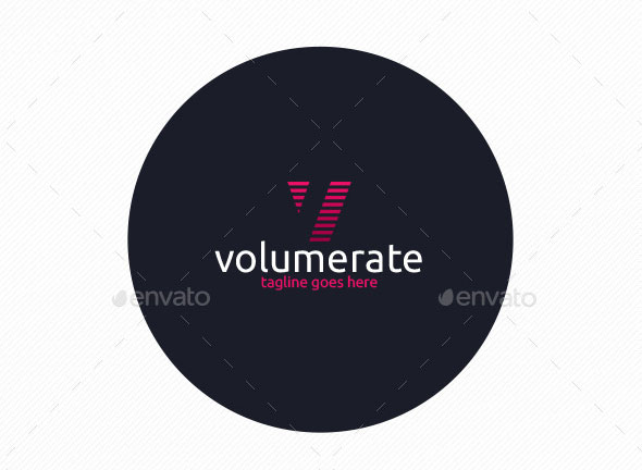 Volume Rate Logo • Letter V