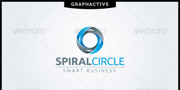 Spiral Circle Letter O Logo Template