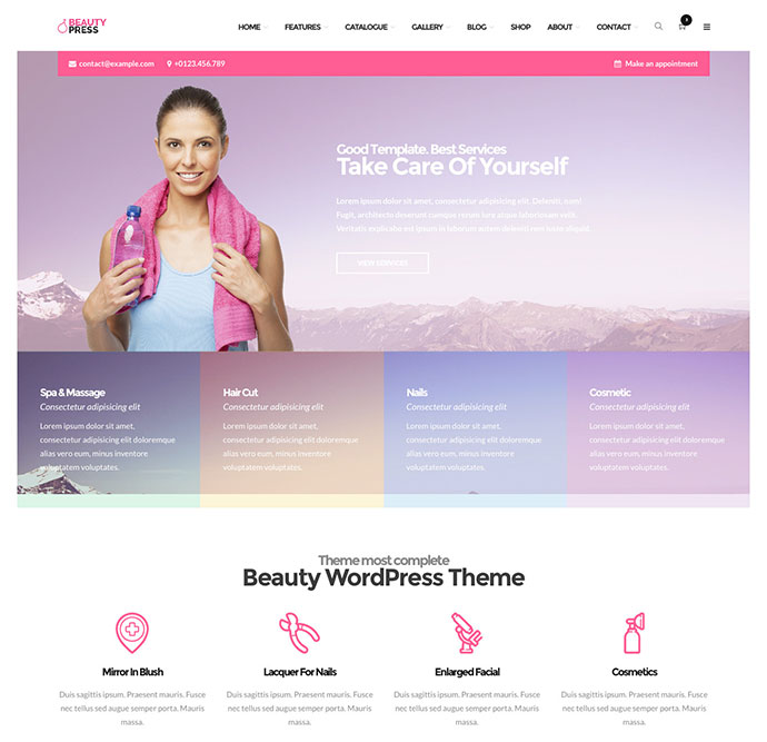 ER BeautyPress Beauty Spa WordPress Theme