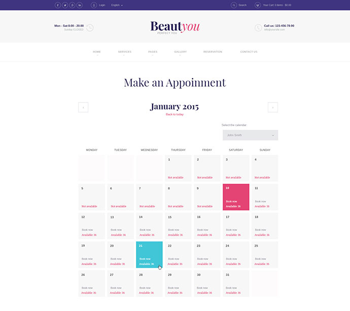 Beauty, Hair & Spa Salon WordPress Theme