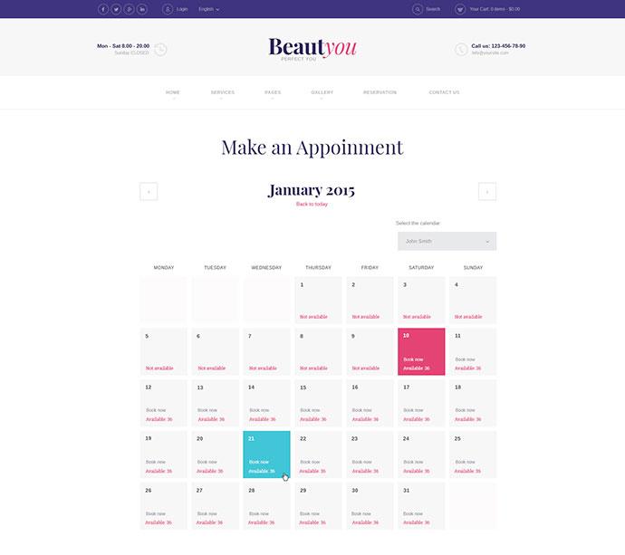 Beauty, Hair & Spa Salon WordPress Theme