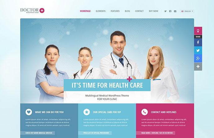 Doctor+: Responsive Medical WordPress Theme