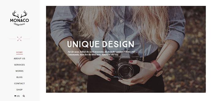 25 Portfolio Wordpress Themes With Vertical Navigation Menu